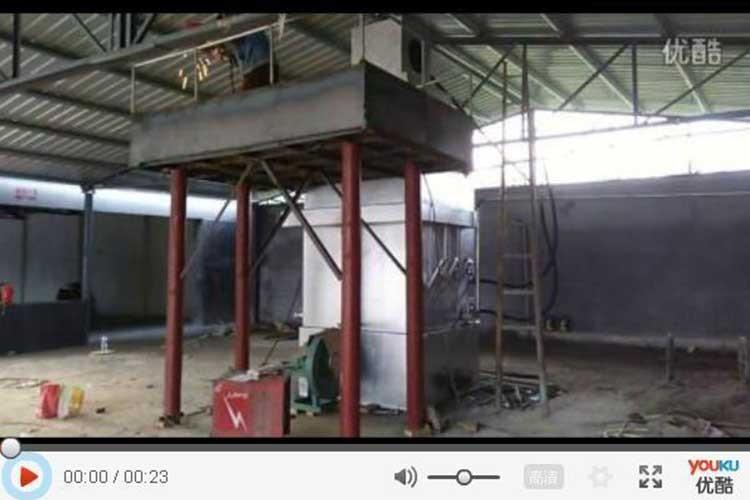 煉鉛爐(lu)安裝現場